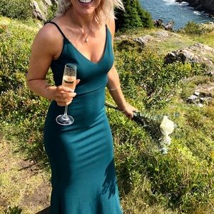 Infinite Glory Forest Green Maxi Dress